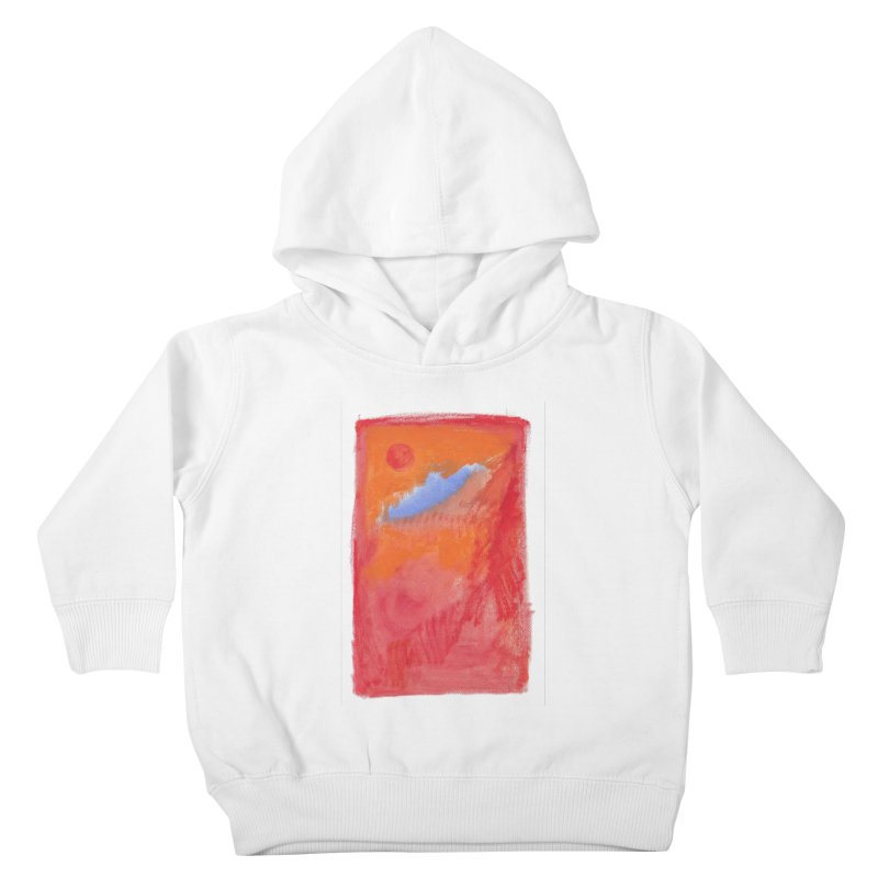 Red Sun Wisp of Cloud Kids Toddler Pullover Hoody by duocuspdesign Artist Shop