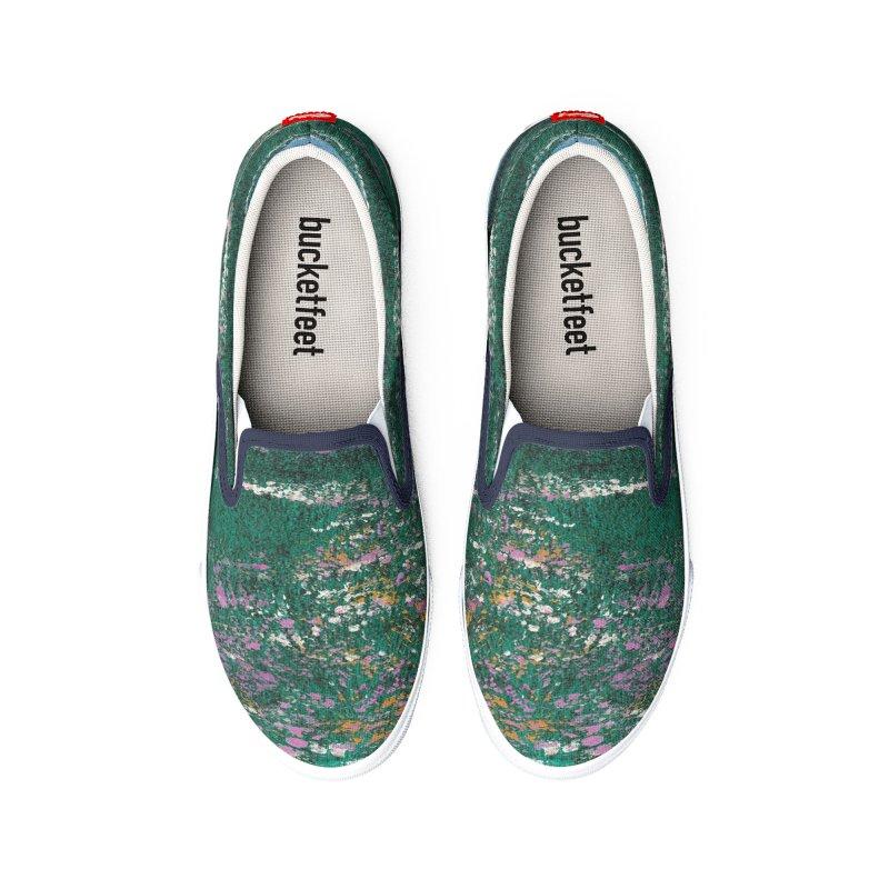 Purple Flowers on Hillside Women's Shoes by duocuspdesign Artist Shop