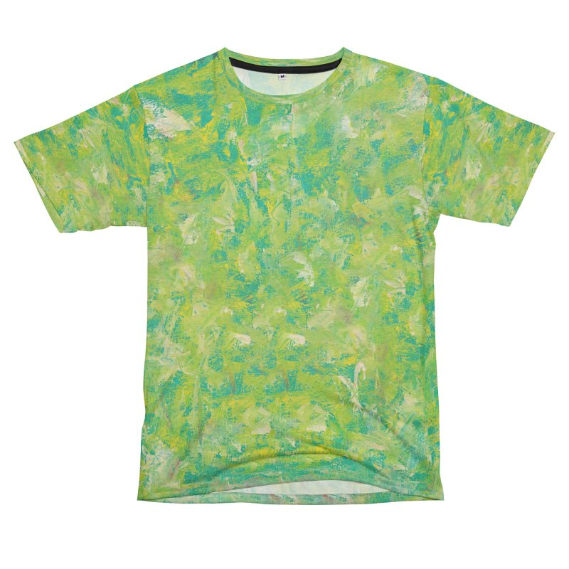 Green Summer Surprise Men's French Terry T-Shirt Cut & Sew by duocuspdesign Artist Shop