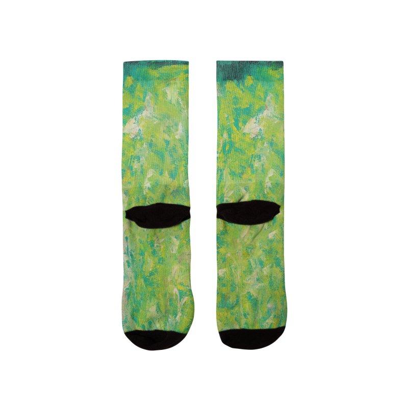 Green Summer Surprise Women's Socks by duocuspdesign Artist Shop