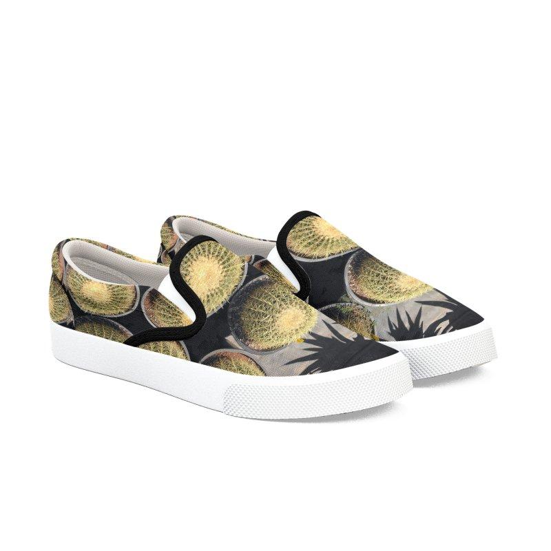 Cactus Men's Slip-On Shoes by duocuspdesign Artist Shop