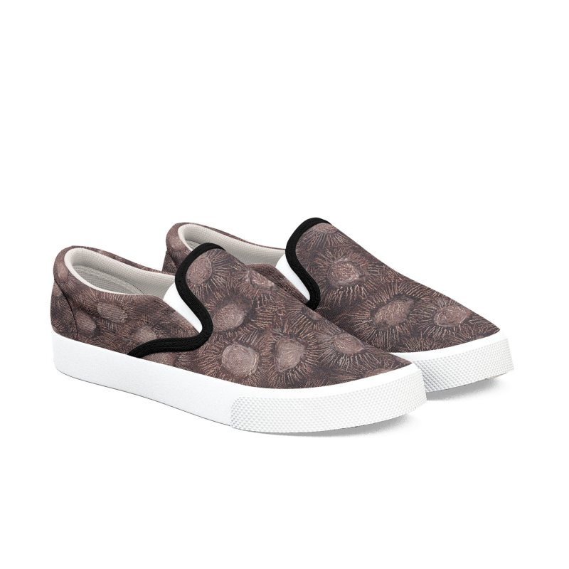 Thistles in Brown Women's Slip-On Shoes by duocuspdesign Artist Shop