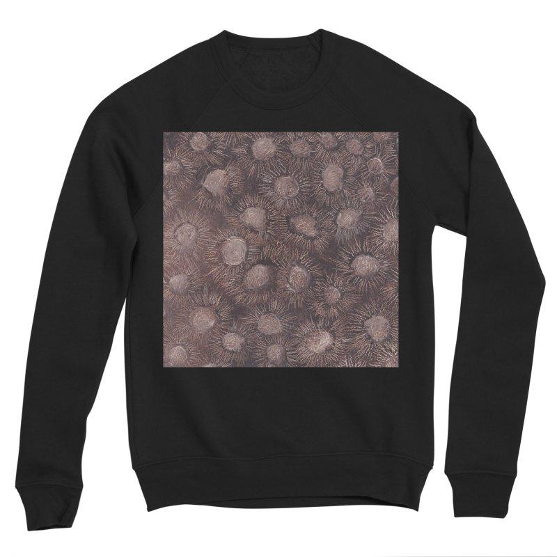 Thistles in Brown Women's Sponge Fleece Sweatshirt by duocuspdesign Artist Shop