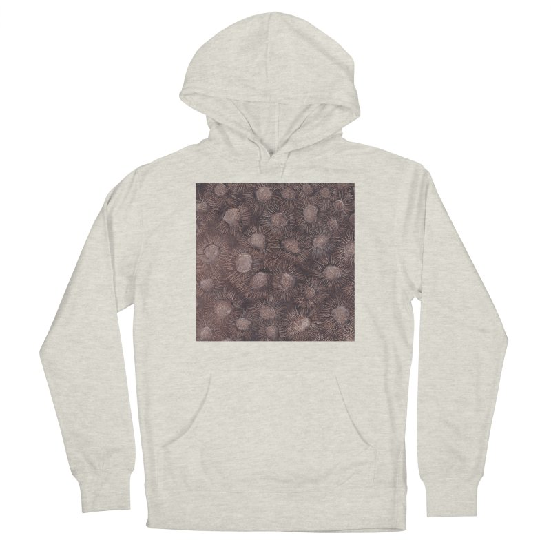 Thistles in Brown Men's Pullover Hoody by duocuspdesign Artist Shop