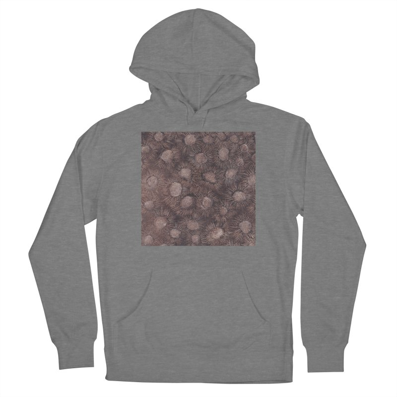 Thistles in Brown Men's French Terry Pullover Hoody by duocuspdesign Artist Shop