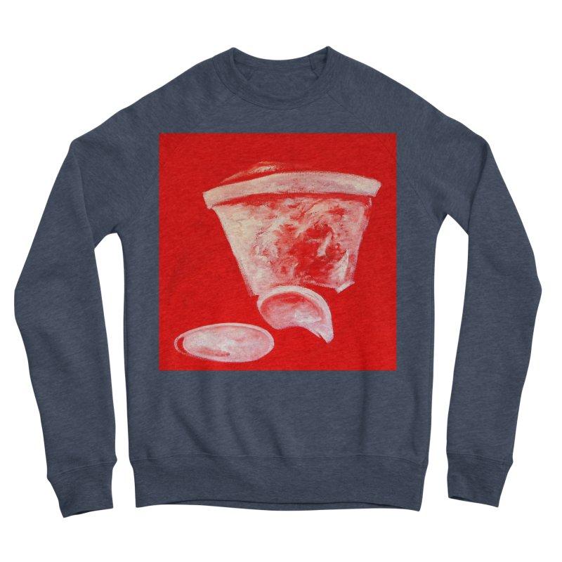 Coffee Cup Crushed in Red Women's Sponge Fleece Sweatshirt by duocuspdesign Artist Shop