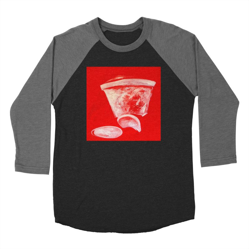 Coffee Cup Crushed in Red Men's Baseball Triblend Longsleeve T-Shirt by duocuspdesign Artist Shop