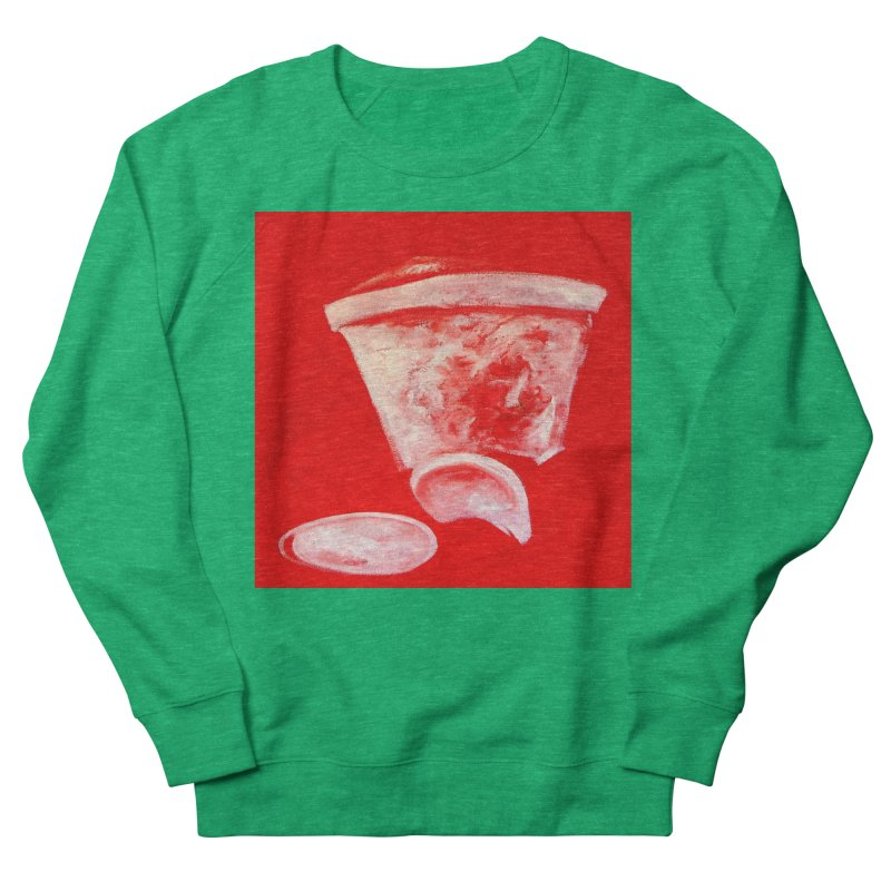 Coffee Cup Crushed in Red Men's French Terry Sweatshirt by duocuspdesign Artist Shop