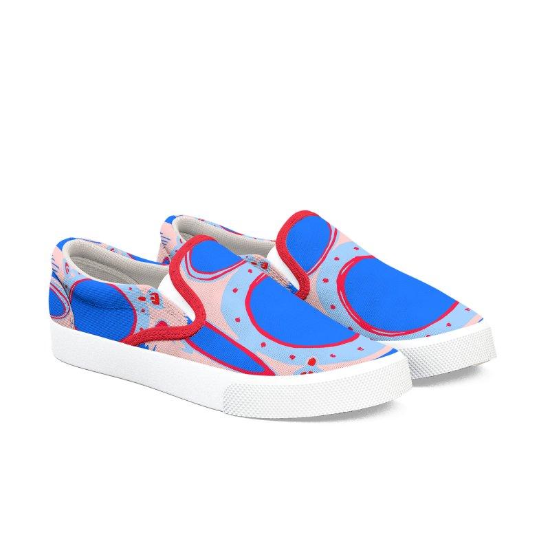 Portal/Nautical Woodcut Women's Slip-On Shoes by duocuspdesign Artist Shop