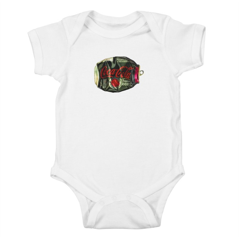 Cherry Coke Crushed Kids Baby Bodysuit by duocuspdesign Artist Shop