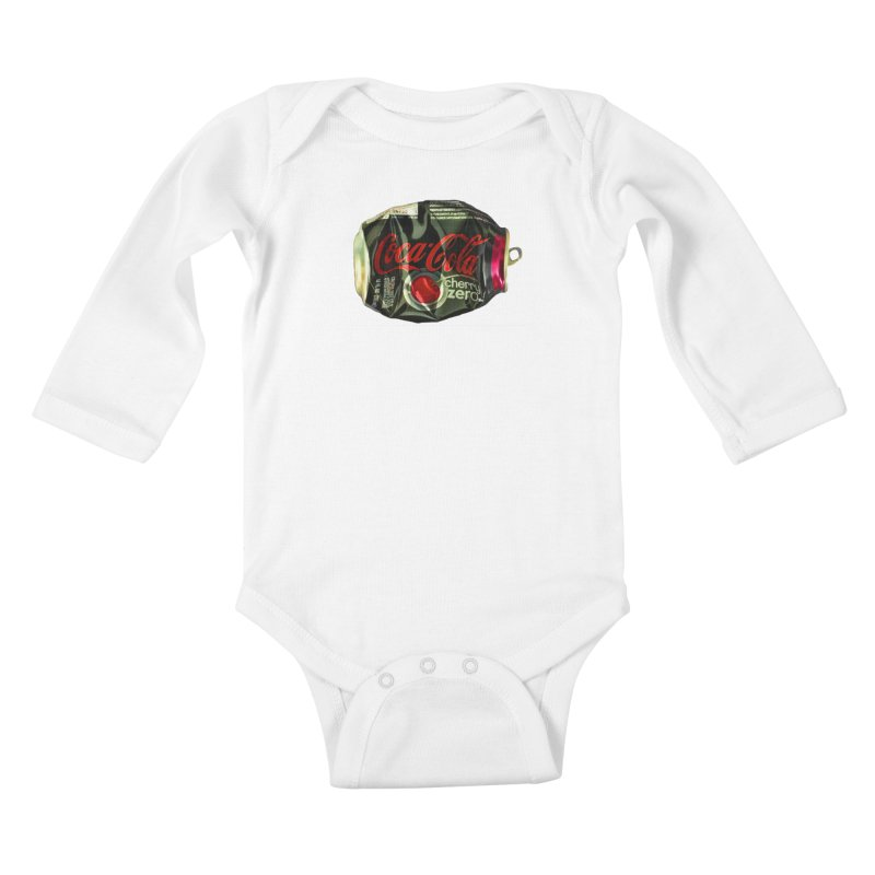 Cherry Coke Crushed Kids Baby Longsleeve Bodysuit by duocuspdesign Artist Shop