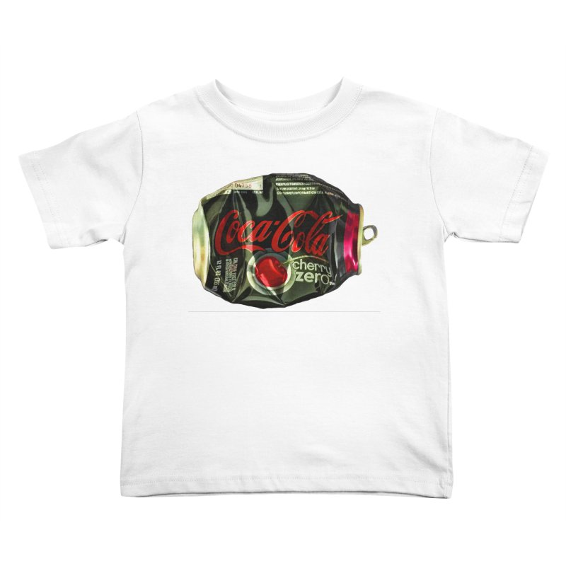 Cherry Coke Crushed Kids Toddler T-Shirt by duocuspdesign Artist Shop