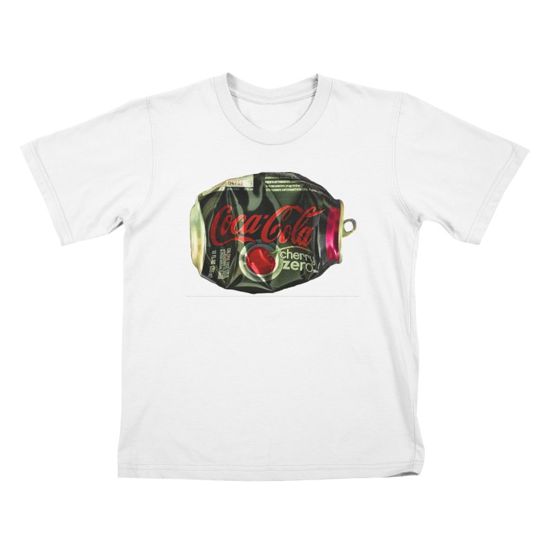 Cherry Coke Crushed Kids T-Shirt by duocuspdesign Artist Shop