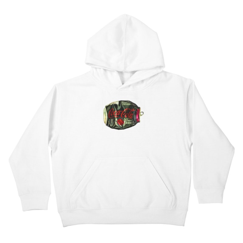 Cherry Coke Crushed Kids Pullover Hoody by duocuspdesign Artist Shop