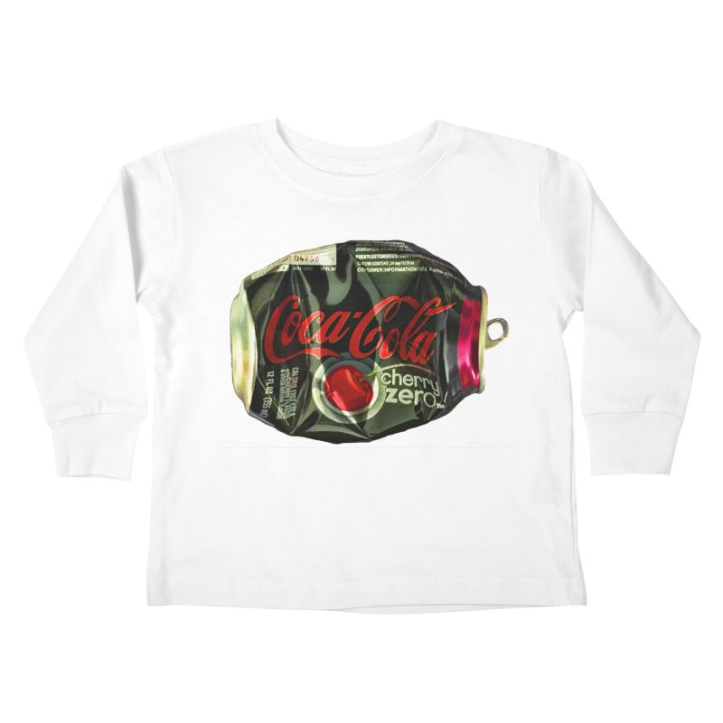 Cherry Coke Crushed Kids Toddler Longsleeve T-Shirt by duocuspdesign Artist Shop