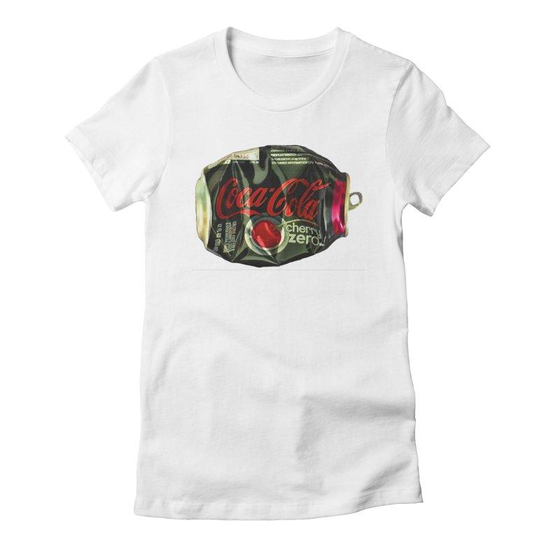 Cherry Coke Crushed Women's T-Shirt by duocuspdesign Artist Shop