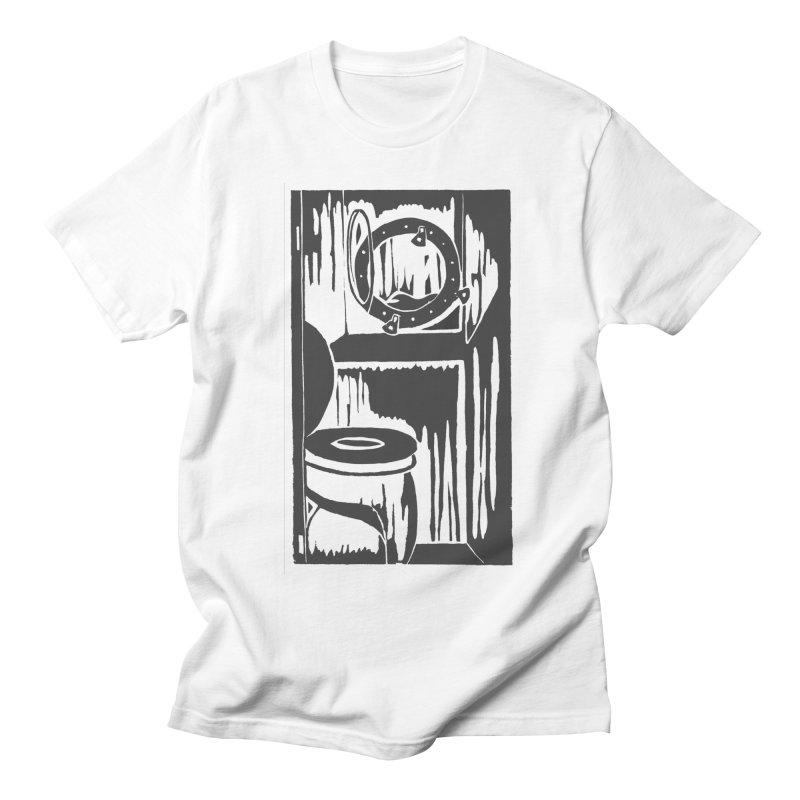 Head/Nautical Woodcut Men's T-Shirt by duocuspdesign Artist Shop