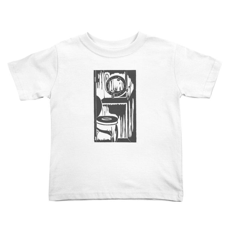 Head/Nautical Woodcut Kids Toddler T-Shirt by duocuspdesign Artist Shop
