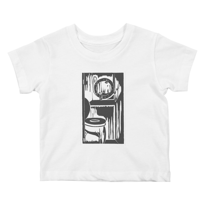 Head/Nautical Woodcut Kids Baby T-Shirt by duocuspdesign Artist Shop