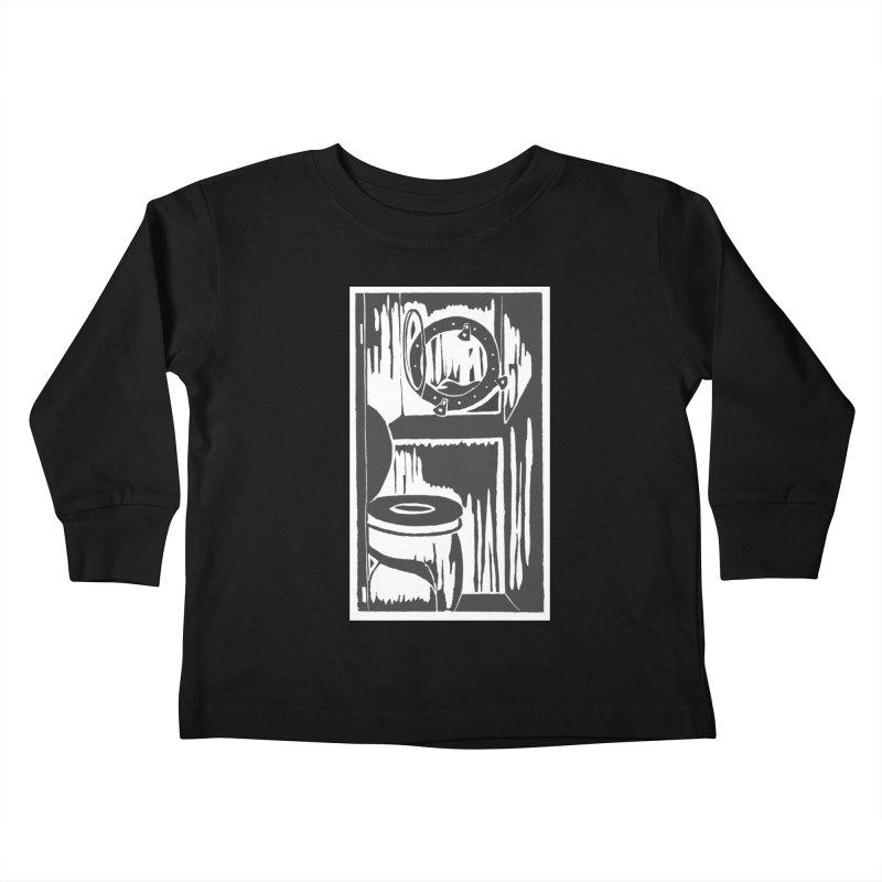 Head/Nautical Woodcut Kids Toddler Longsleeve T-Shirt by duocuspdesign Artist Shop