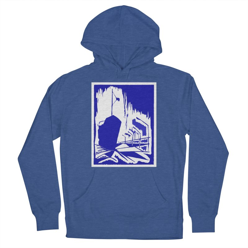 Docked/Nautical Woodcut Women's French Terry Pullover Hoody by duocuspdesign Artist Shop