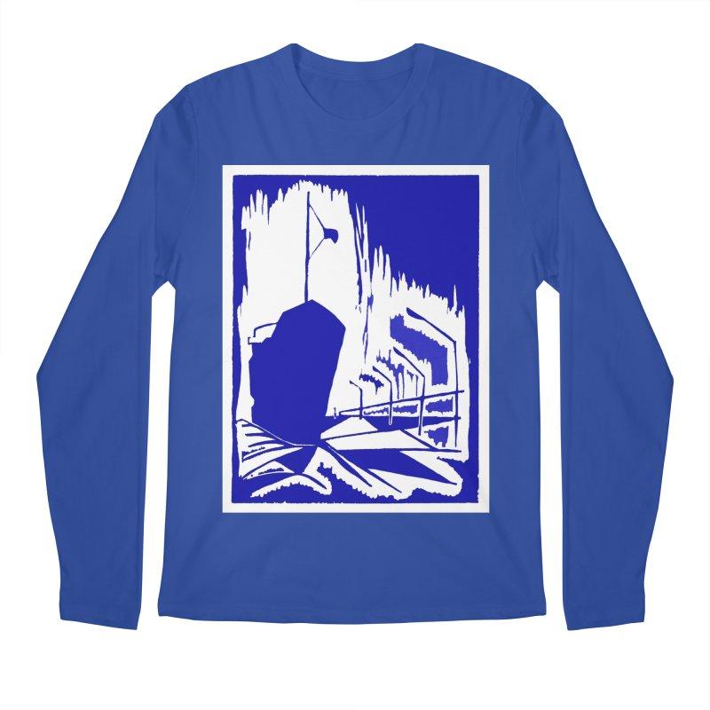 Docked/Nautical Woodcut Men's Regular Longsleeve T-Shirt by duocuspdesign Artist Shop