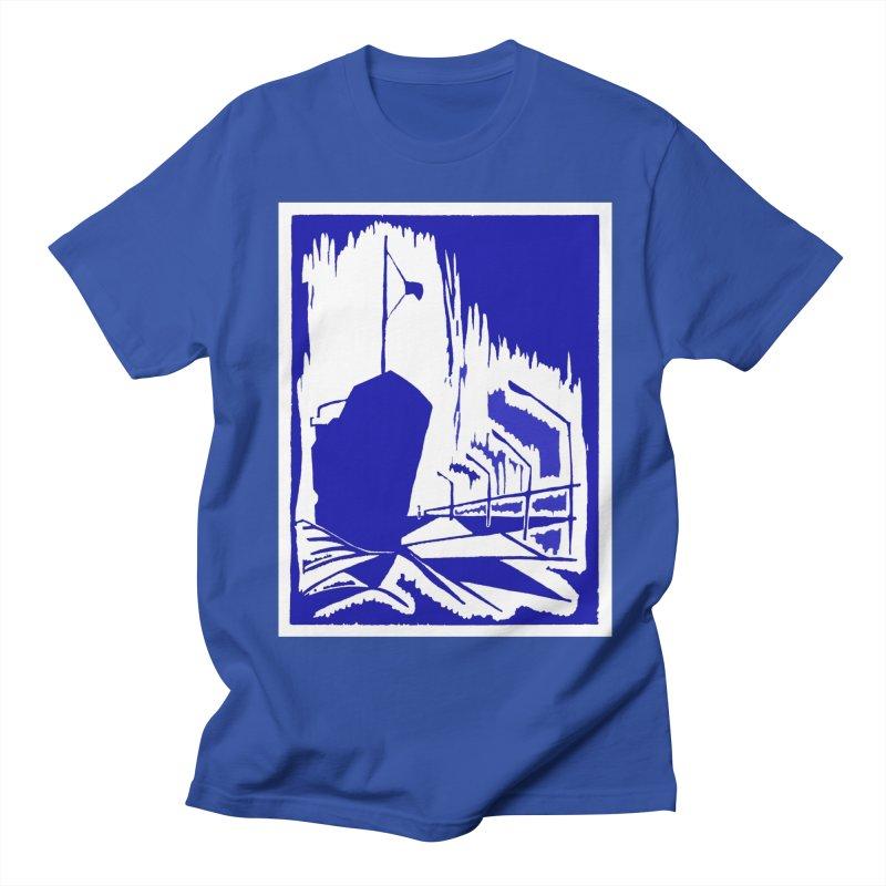 Docked/Nautical Woodcut Men's T-Shirt by duocuspdesign Artist Shop