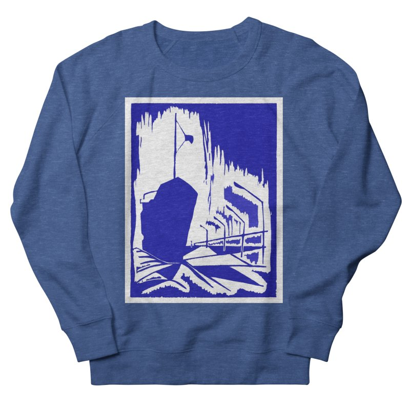 Docked/Nautical Woodcut Men's French Terry Sweatshirt by duocuspdesign Artist Shop