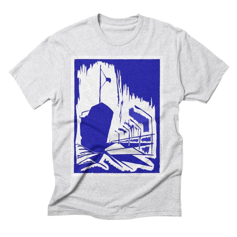 Docked/Nautical Woodcut Men's Triblend T-Shirt by duocuspdesign Artist Shop