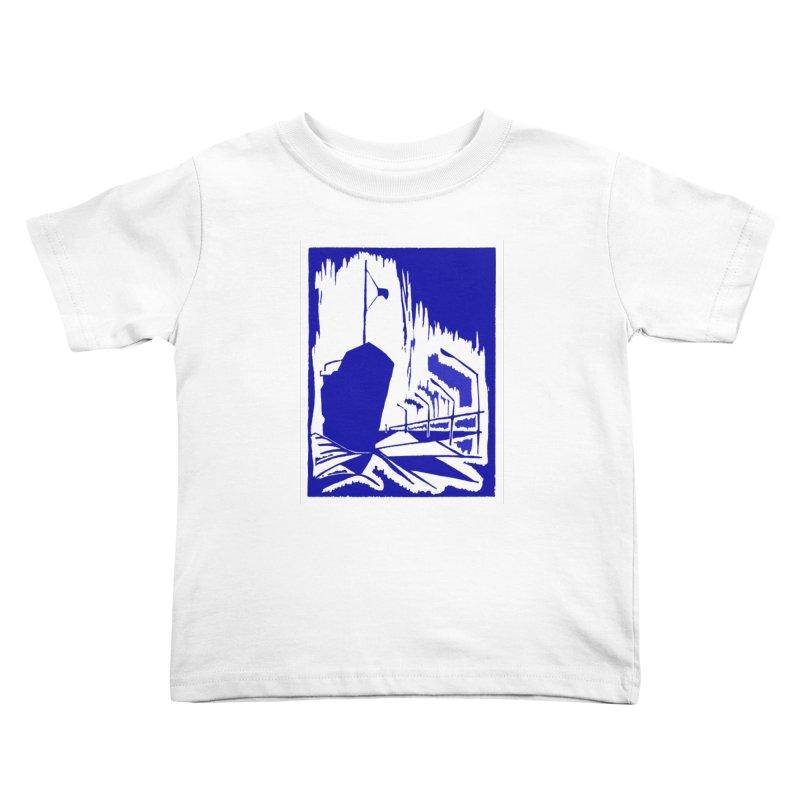 Docked/Nautical Woodcut Kids Toddler T-Shirt by duocuspdesign Artist Shop