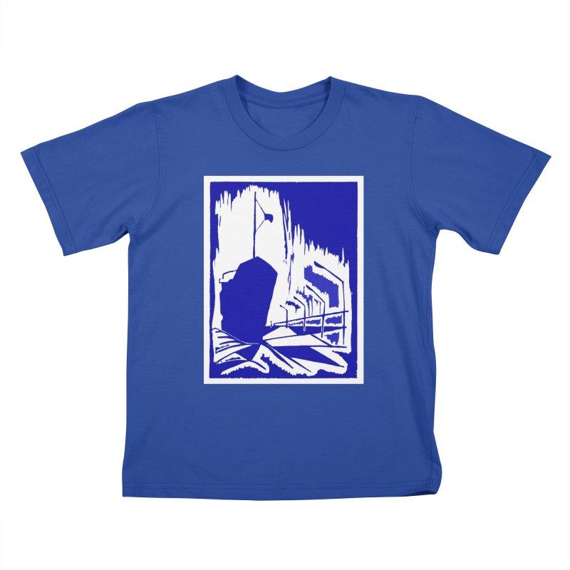 Docked/Nautical Woodcut Kids T-Shirt by duocuspdesign Artist Shop