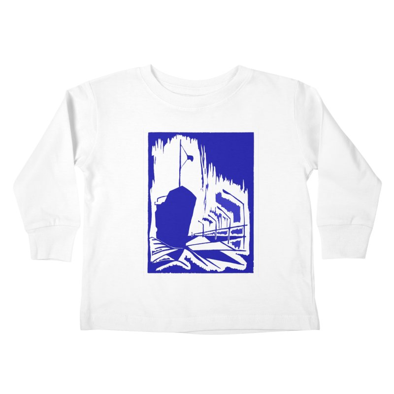 Docked/Nautical Woodcut Kids Toddler Longsleeve T-Shirt by duocuspdesign Artist Shop