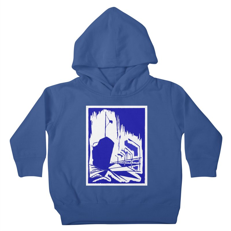 Docked/Nautical Woodcut Kids Toddler Pullover Hoody by duocuspdesign Artist Shop
