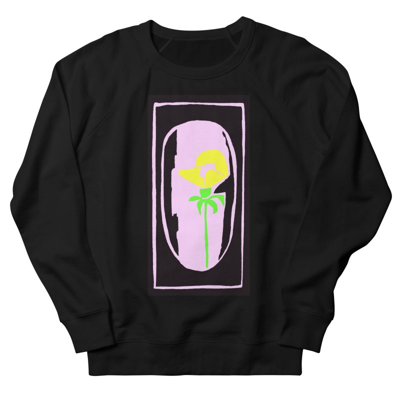 Flower/Woodcut Men's French Terry Sweatshirt by duocuspdesign Artist Shop