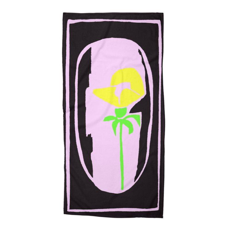 Flower/Woodcut Accessories Beach Towel by duocuspdesign Artist Shop