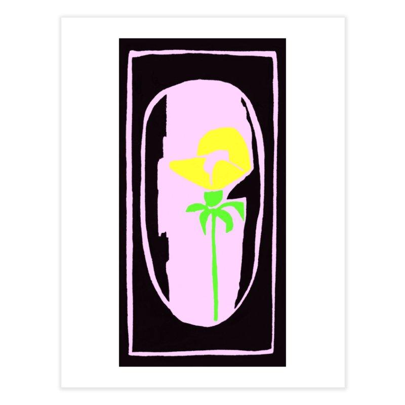 Flower/Woodcut Home Fine Art Print by duocuspdesign Artist Shop