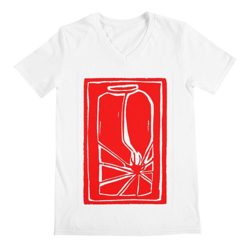 Spider in Jar/Woodcut Men's V-Neck by duocuspdesign Artist Shop