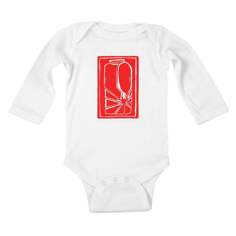 Spider in Jar/Woodcut Kids Baby Longsleeve Bodysuit by duocuspdesign Artist Shop