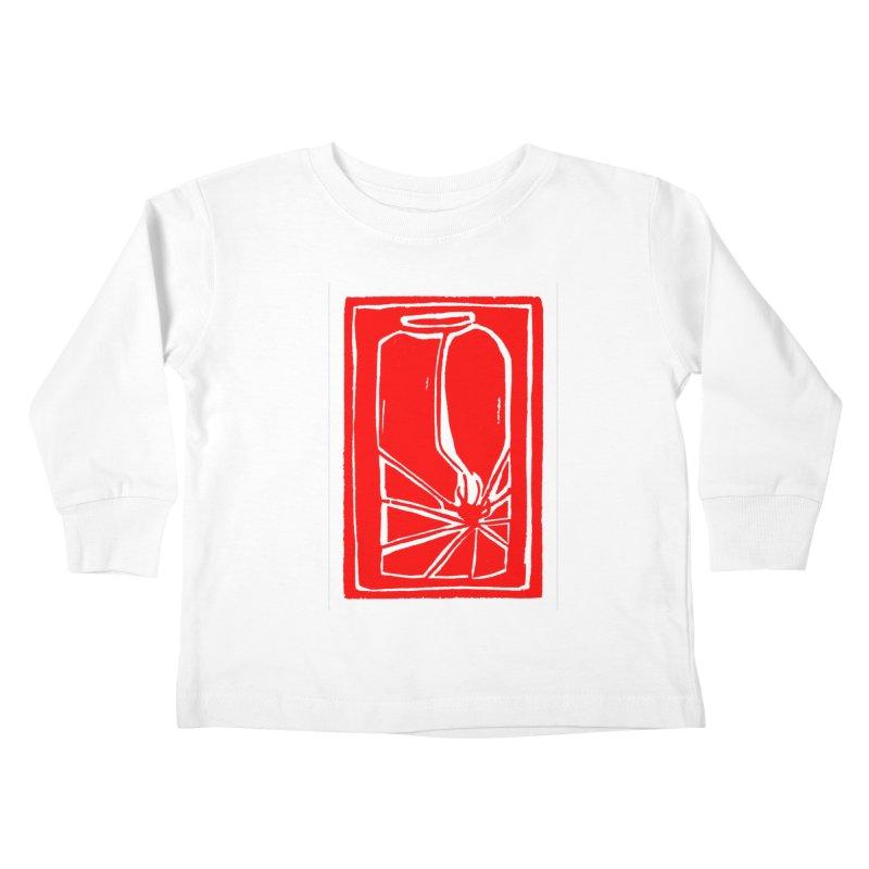Spider in Jar/Woodcut Kids Toddler Longsleeve T-Shirt by duocuspdesign Artist Shop