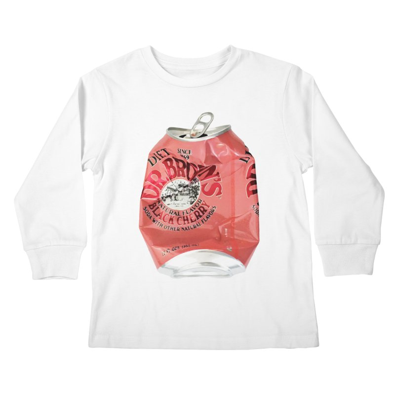 Dr. Brown's Soda Crushed Kids Longsleeve T-Shirt by duocuspdesign Artist Shop