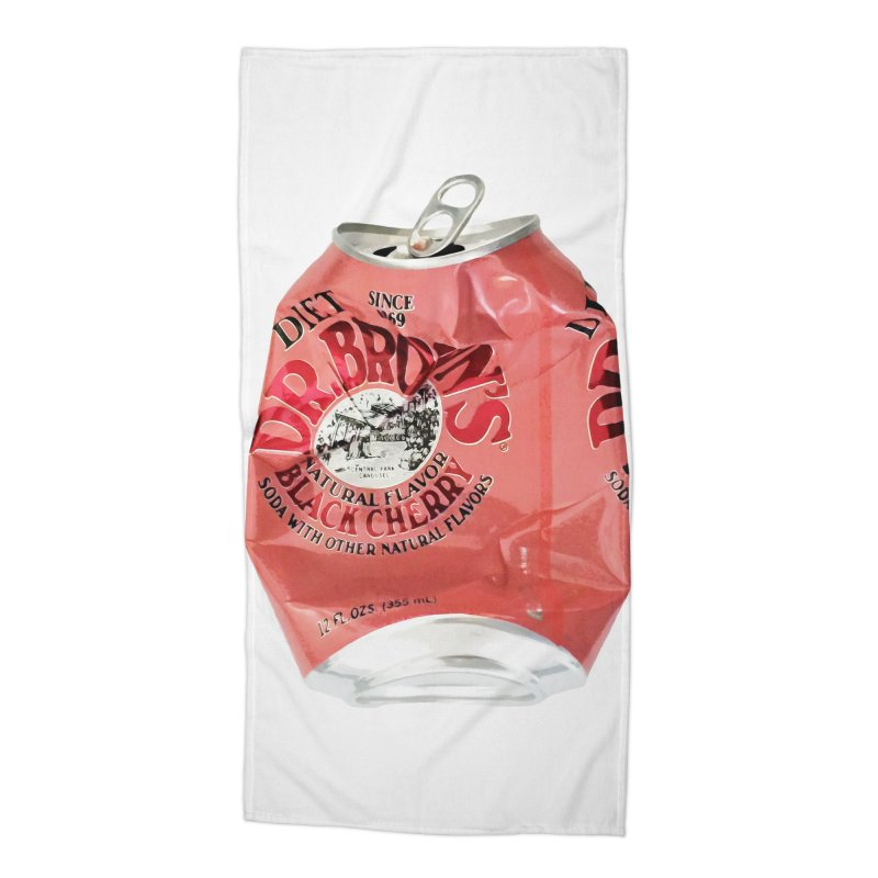 Dr. Brown's Soda Crushed Accessories Beach Towel by duocuspdesign Artist Shop