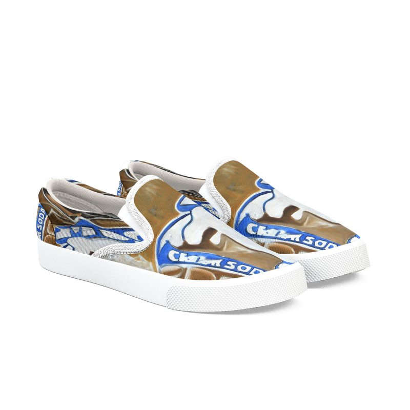 Cream Soda Crushed Women's Slip-On Shoes by duocuspdesign Artist Shop