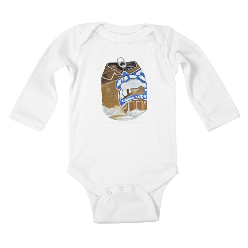 Cream Soda Crushed Kids Baby Longsleeve Bodysuit by duocuspdesign Artist Shop