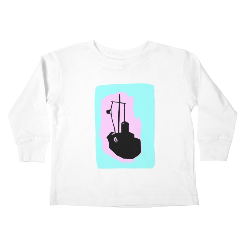 Fishing Boat/Nautical Woodcut Kids Toddler Longsleeve T-Shirt by duocuspdesign Artist Shop