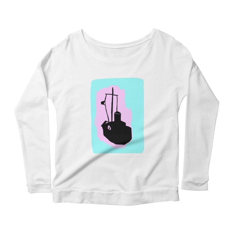 Fishing Boat/Nautical Woodcut Women's Longsleeve T-Shirt by duocuspdesign Artist Shop