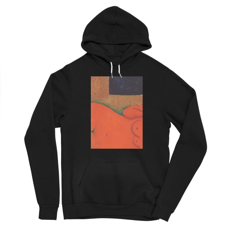 Orange Reclining Nude on Sofa Panel C Women's Sponge Fleece Pullover Hoody by duocuspdesign Artist Shop