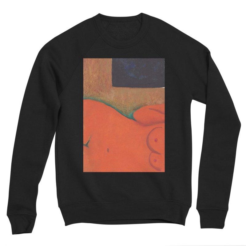 Orange Reclining Nude on Sofa Panel C Women's Sponge Fleece Sweatshirt by duocuspdesign Artist Shop
