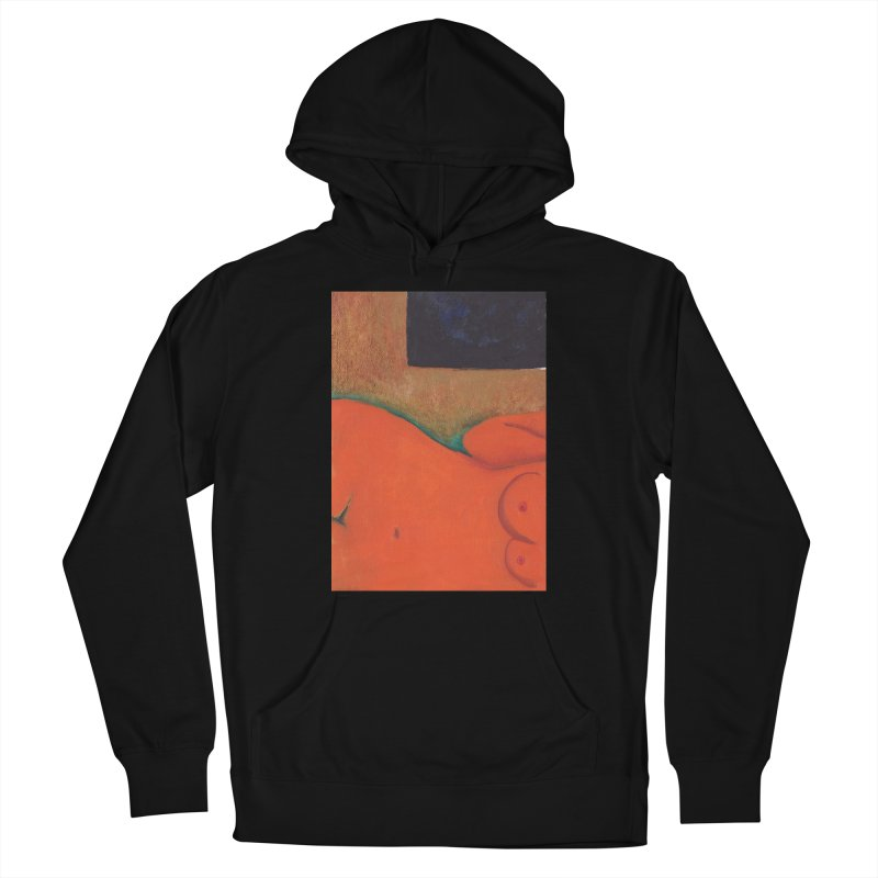 Orange Reclining Nude on Sofa Panel C Women's Pullover Hoody by duocuspdesign Artist Shop