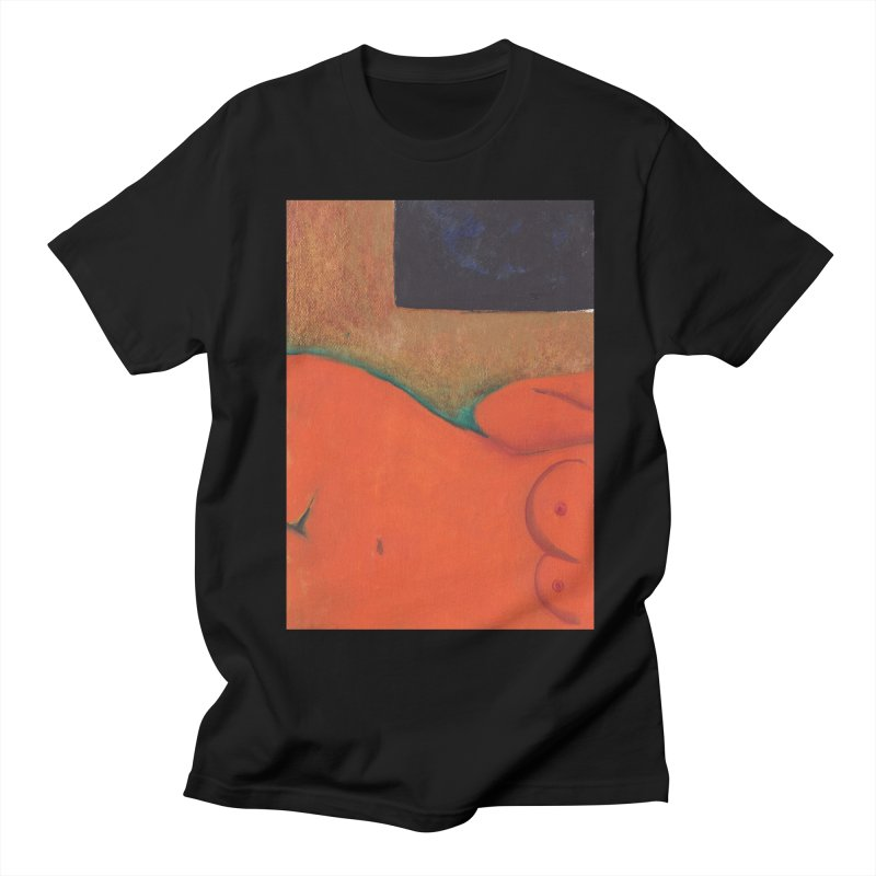 Orange Reclining Nude on Sofa Panel C Women's Regular Unisex T-Shirt by duocuspdesign Artist Shop