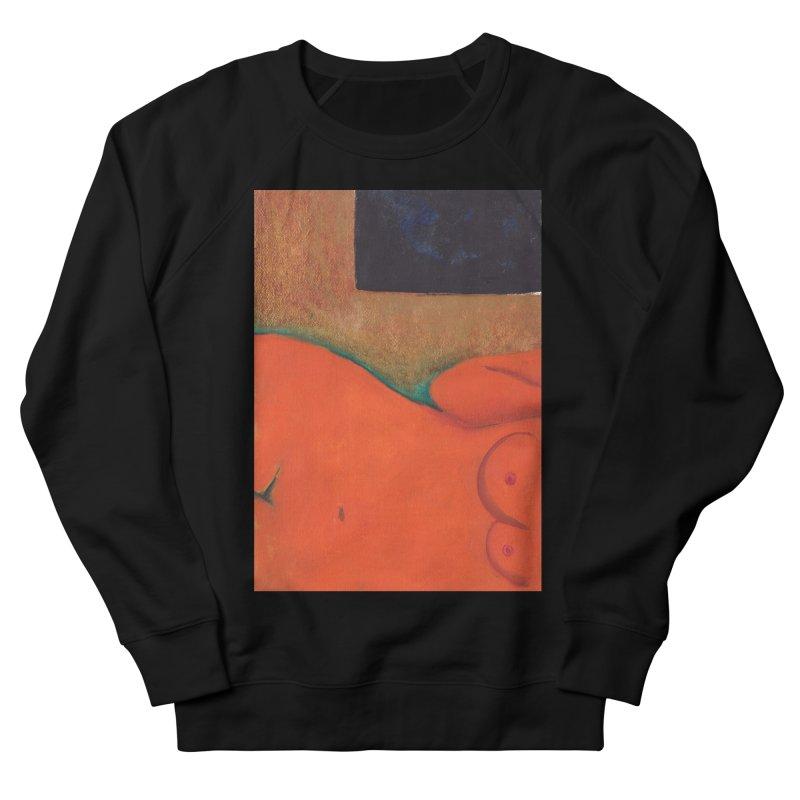 Orange Reclining Nude on Sofa Panel C Women's Sweatshirt by duocuspdesign Artist Shop